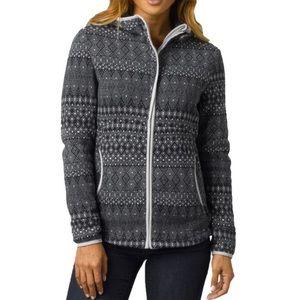 PrAna Full Zip Fleece Hoodie Arka Jacket L
